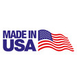 made in usa badge isolated on white background vector image