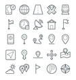 Map and Navigation Cool Icons 1 vector image vector image