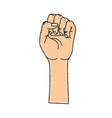 nice hands fist up celebrating vector image vector image