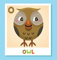 o is for owl letter o owl cute vector image vector image