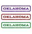 oklahoma watermark stamp vector image vector image