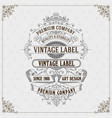 old vintage card with floral ornament vector image vector image