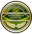 olive oil gold label vector image vector image