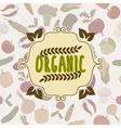 Organic food frame Vegetables pattern vector image