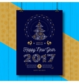 Poster Happy New Year 2017 Party flyer Chinese vector image vector image