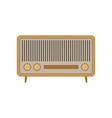 retro radio with three settings knobs vintage vector image vector image