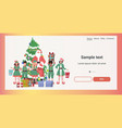 santa claus with mix race elves standing together vector image