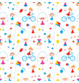 seamless background of cheerful active little vector image