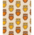 Seamless Pattern with Sleepy Brown Owl vector image vector image