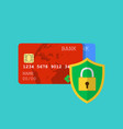 secure credit card transaction vector image vector image
