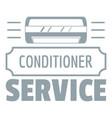 service conditioner logo simple gray style vector image vector image