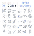 set line icons sport shooting vector image