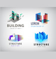 set of abstract building and structure vector image vector image