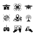 Set of drone icons - with box top view vector image vector image