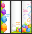 set of easter banner vector image