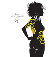 silhouette a girl interpretation zodiac sign vector image