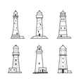 Simple icon or logo set of lighthouses vector image vector image
