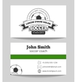 Soccer club business card vector image