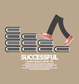 Step Up Walking On Books Successful Concept vector image vector image