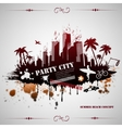 Summer beach concept downtown party city vector image vector image