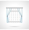 Textile blinds flat line icon vector image