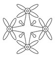 transport drone icon outline style vector image