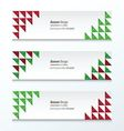 Triangle banner Christmas Styles vector image vector image