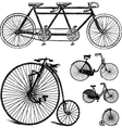 Vintage bicycle set vector image