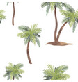 watercolor palm tree pattern vector image vector image