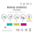 web design template of makeup and cosmetics online vector image
