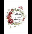 wedding floral invite vector image