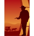 Western poster vector image