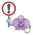 with sign orchid flower character cartoon vector image vector image