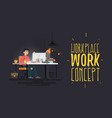 work place work concept vector image vector image
