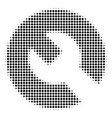 wrench halftone icon vector image vector image