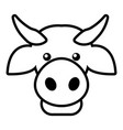 cow head icon outline style vector image