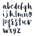 Watercolor alphabet vector image