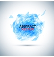 Abstract blue geometric explosion speech vector image vector image
