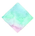 abstract blue green mint and purple watercolor vector image