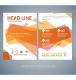 abstract geometric orange wave brochure vector image vector image
