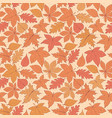 autumn pattern with oak poplar beech leaves vector image vector image