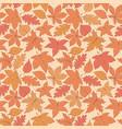 autumn pattern with oak poplar beech leaves vector image vector image