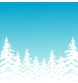 background with winter forest vector image vector image