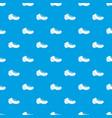 Baseball cleat pattern seamless blue