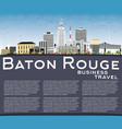 baton rouge louisiana city skyline with color vector image