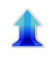 blue sign arrow with shadow vector image