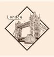 bridge in london vector image vector image