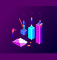 business competition - modern colorful isometric vector image vector image