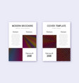 business cover design template set rainbow abstra vector image vector image