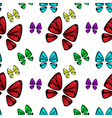 butterfly colorful pattern vector image vector image